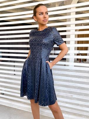 Этюд платье синий
