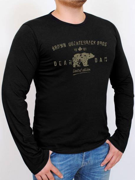 BROWN LONG футболка длинный рукав черный