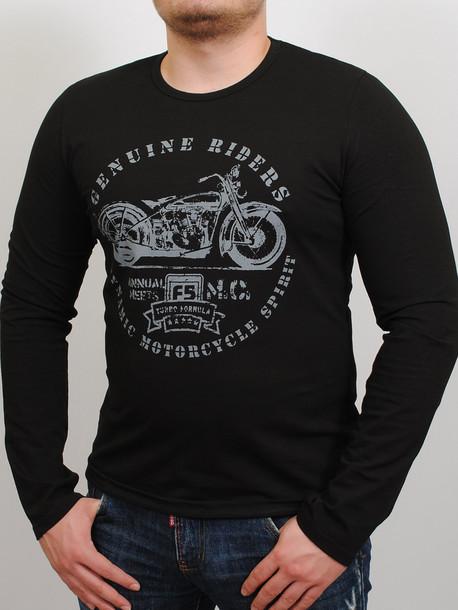MOTOR футболка длинный рукав черный