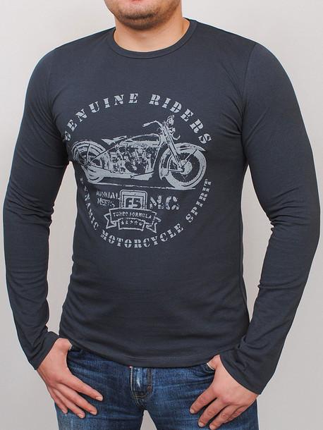 MOTOR футболка длинный рукав фуме
