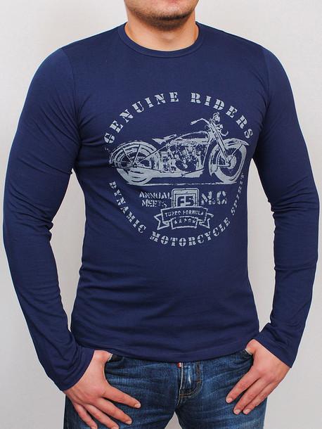 MOTOR футболка длинный рукав синий