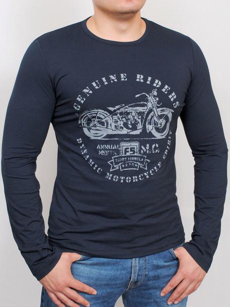 MOTOR футболка длинный рукав т.синий