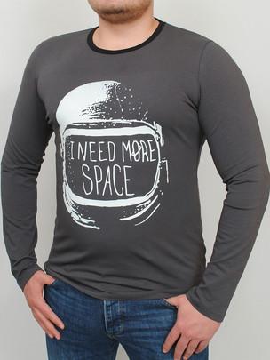 SPACE LONG футболка длинный рукав графит