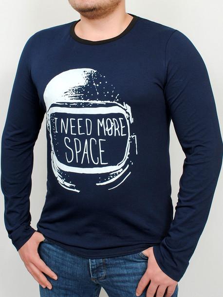 SPACE LONG футболка длинный рукав т.синий