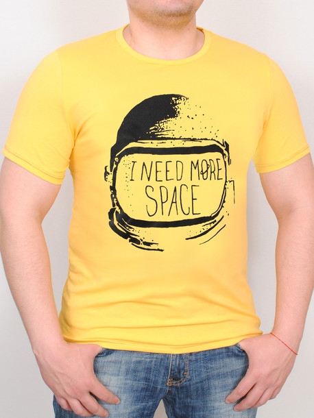 SPACE футболка желтый