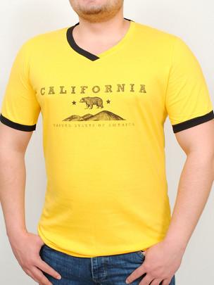 CALIFORNIA футболка желтый