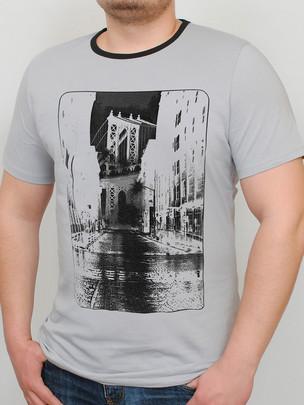BROOKLYN футболка св.серый