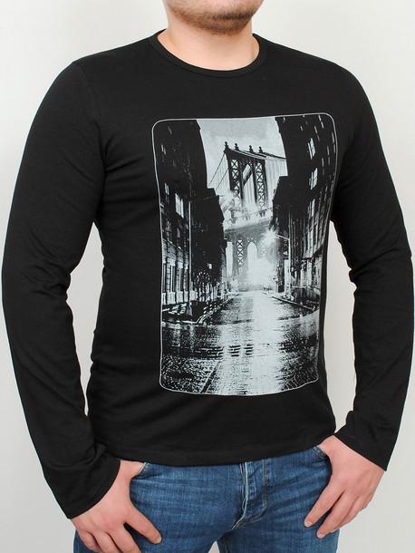 BROOKLYN LONG футболка длинный рукав черный