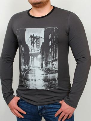 BROOKLYN LONG футболка длинный рукав графит