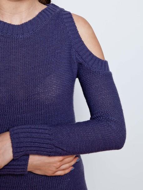 Розали платье вязаное джинс