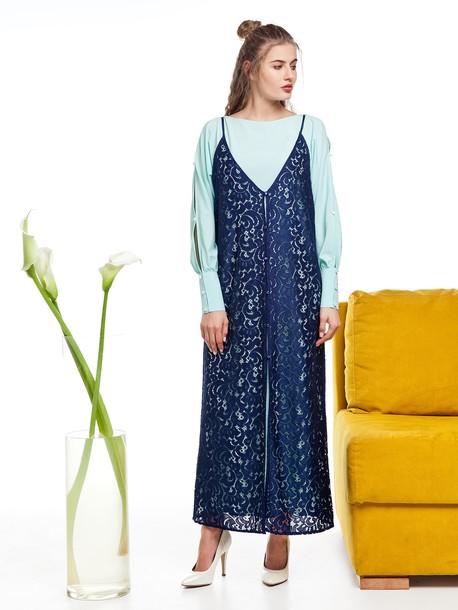 Дамир сарафан синий
