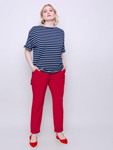 Мэлвин футболка синяя XL полоса