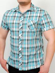TEXAS рубашка голубая клетка