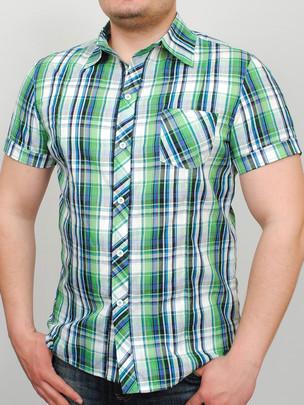 TEXAS рубашка салатовая клетка