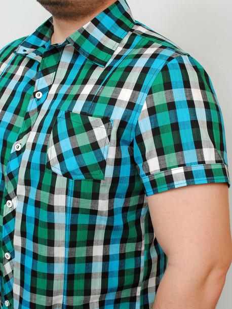 TEXAS рубашка зеленая клетка