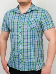 TEXAS рубашка зеленая мелкая клетка