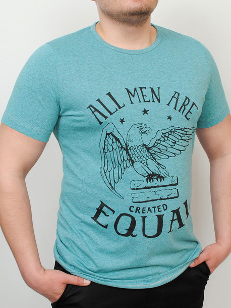 ORLAN футболка меланж-зеленый