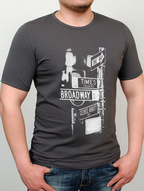 BROADWAY футболка графит