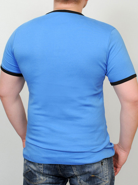 SOTTOVENTO футболка бирюза-черный