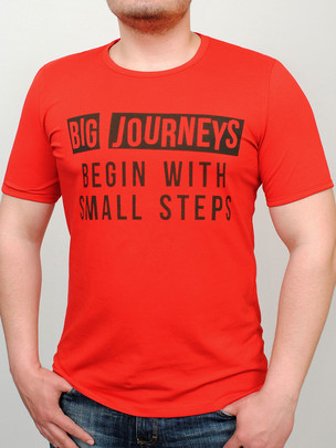 JOURNEY футболка красный