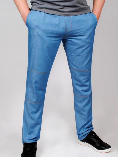 WESTERN брюки светлый джинс