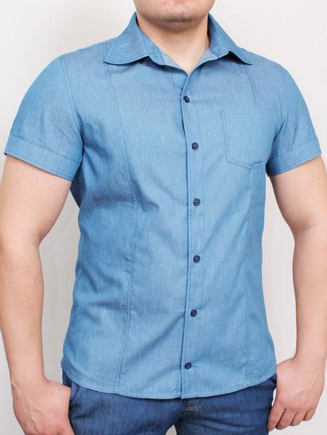 MEXICO рубашка светлый джинс
