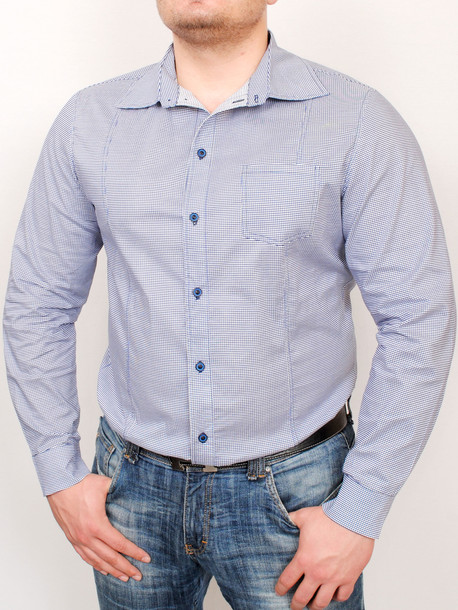 AMSTERDAM рубашка длинный рукав мелкая клетка