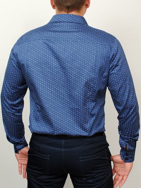 AMSTERDAM рубашка длинный рукав синий