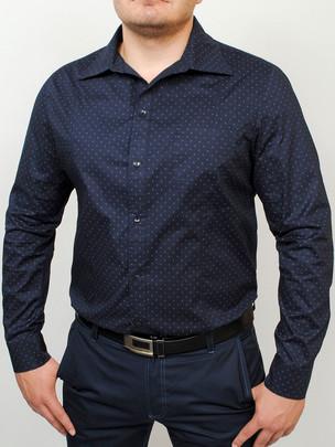 AMSTERDAM рубашка длинный рукав т.синий