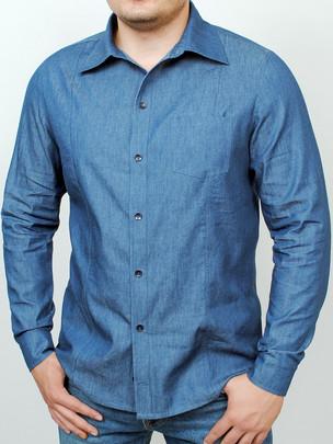 WEST рубашка длинный рукав джинс