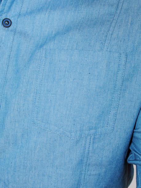 WEST рубашка длинный рукав светлый джинс