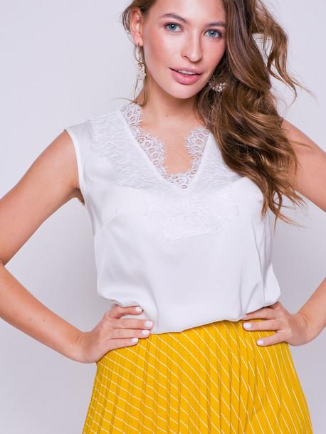 Мариша блуза молочный