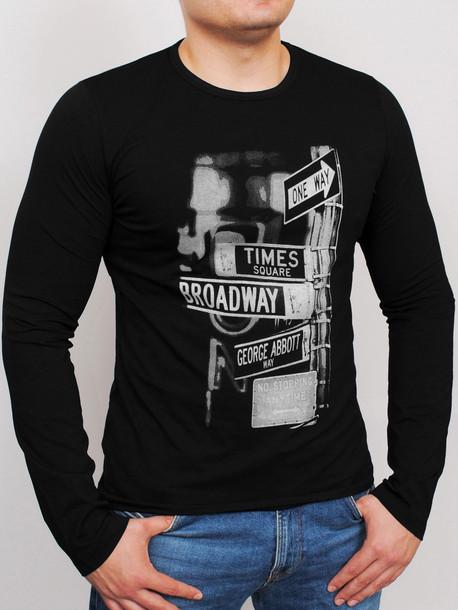 BRODWAY LONG футболка длинный рукав черный