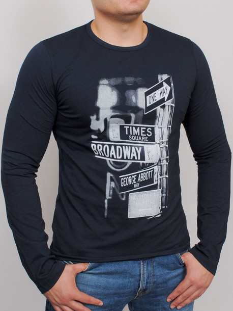 BRODWAY LONG футболка длинный рукав т.синий