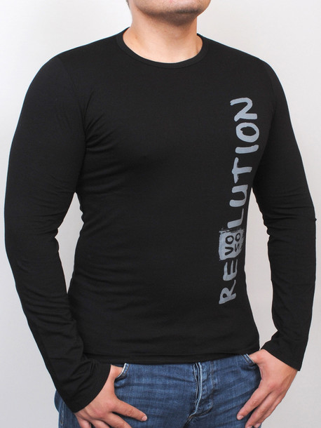 REVOLUTION Long футболка длинный рукав черный