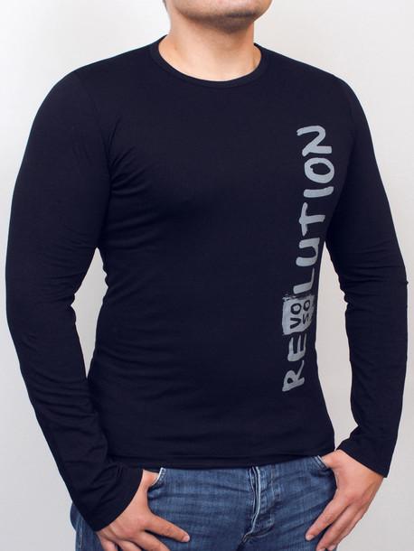 REVOLUTION Long футболка длинный рукав т.синий