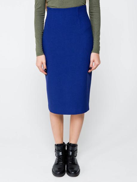 Розали юбка синий