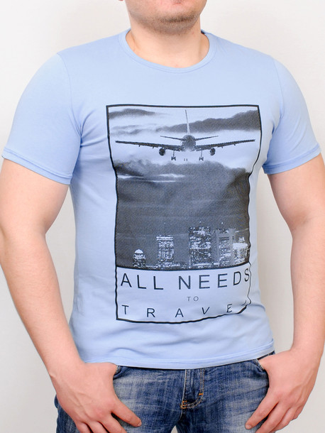 TRAVEL футболка бирюза