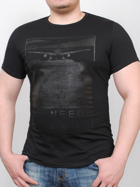 TRAVEL футболка черный