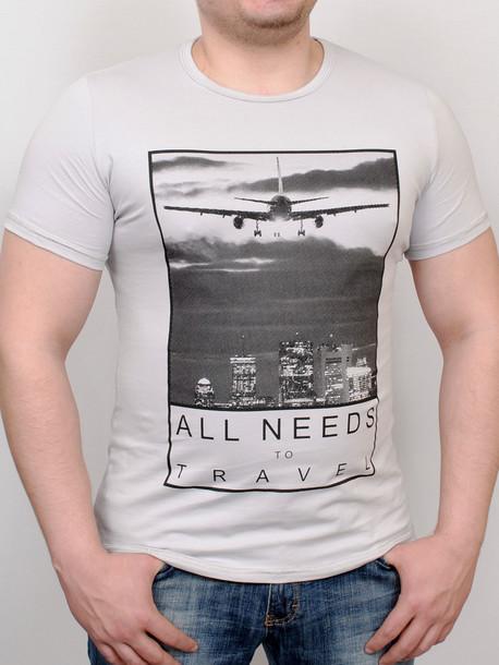 TRAVEL футболка светло-серый
