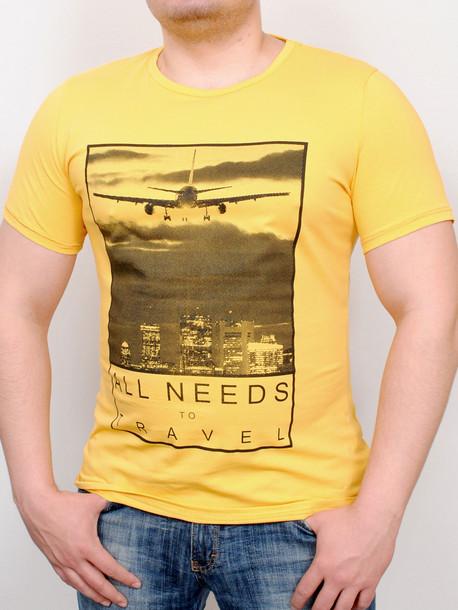TRAVEL футболка желтый