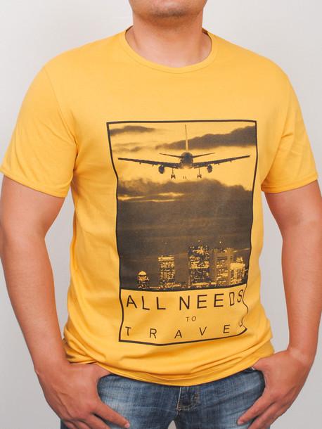 BigTravel футболка горчица