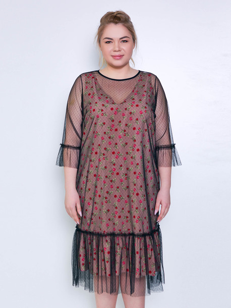 Ивана платье - сетка точка
