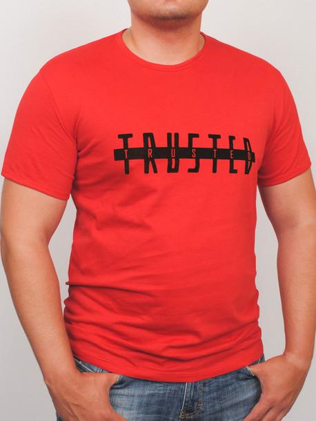 TRUSTED футболка красный