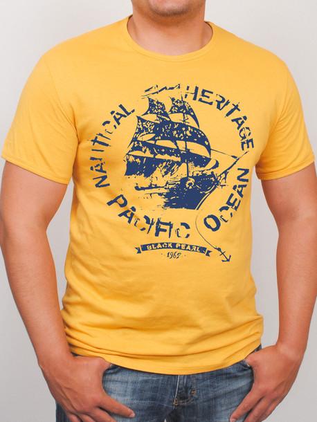 BigOCEAN футболка горчица