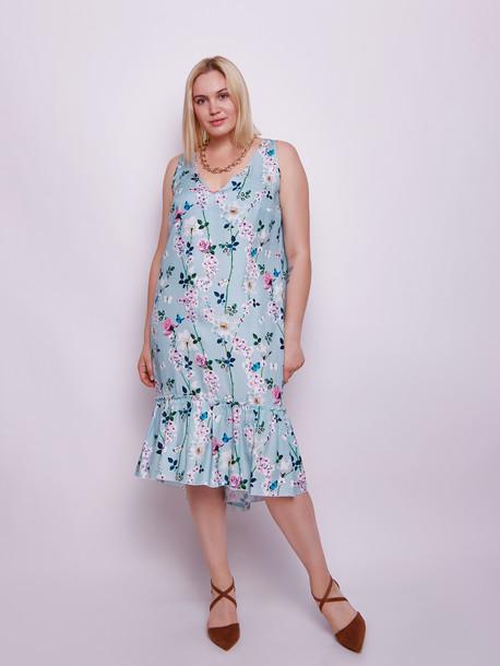 Мирей платье нефрит