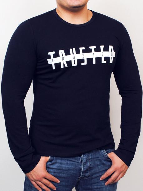 TRUSTED long футболка т.синий