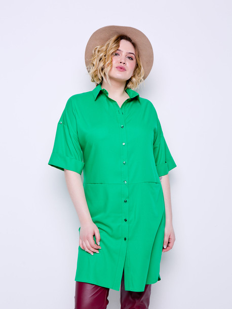 Ронда платье-туника изумрудный