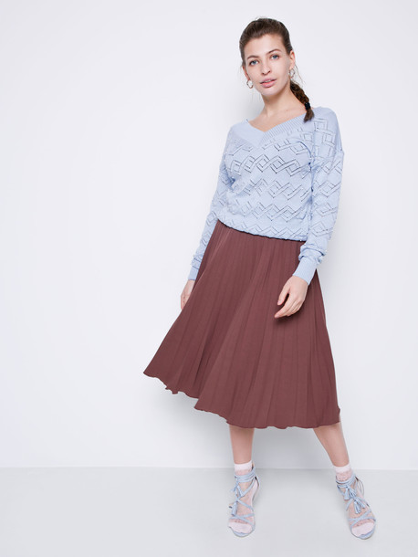 Манго пуловер небесный