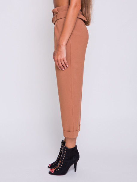 Мехти брюки карамель